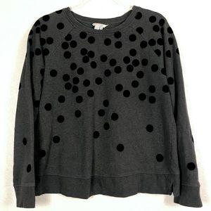 Boden gray polkadot sweatshirt sz. M